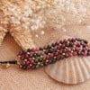 Edelstein Armband Achat Pink Grün Boho Chic
