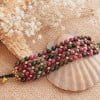 Edelstein Armband Achat Pink Grün Breites Perlenarmband