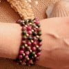Edelstein Armband Achat Pink Grün Ibiza Boho Style