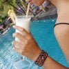 Edelstein Armband Achat Pink Grün Ibiza Style