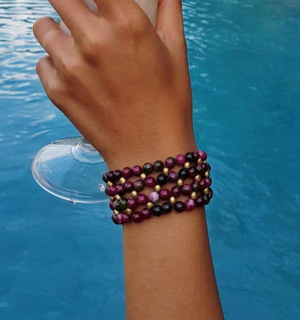 Hippie Boho Bracelet Pink Grün Weltentänzer Berlin