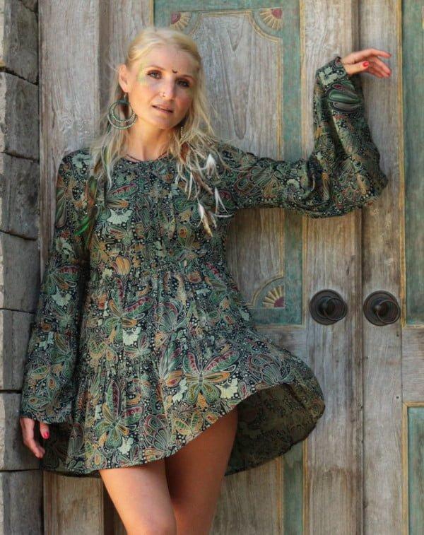 Hippie Style Kleidung Kleid Tunika Glockenärmel Babydoll Daddy Style Weltentänzer Berlin