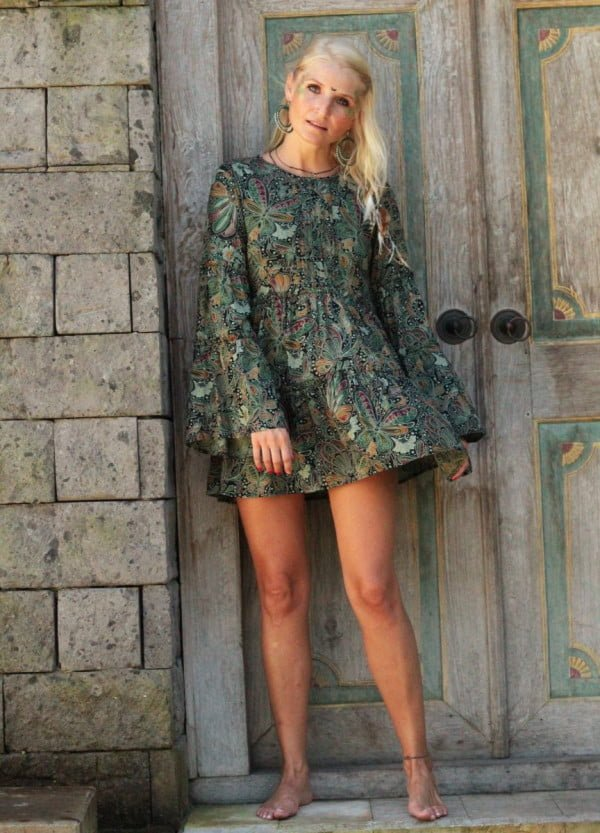 Tunika Hippie Kleid Vintage Boho Sommerkleid Hippie Kleidung Weltentänzer Berlin