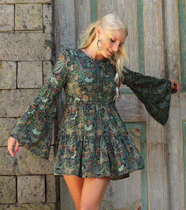 Weltentänzer Berlin Hippie Boho Tunika Kleid Hippie Kleidung Online Fair trade