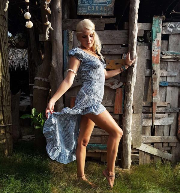 Marine Look Kleid Sommer Marine Streifen Kleide Blau Weisse streifen Kleid