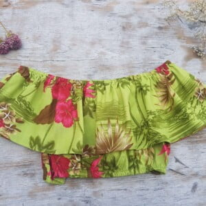 Off Shoulder Top Hawaii Print