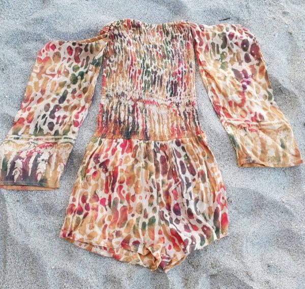 Boho Strand Jumpsuit für Damen Animal Safari Print