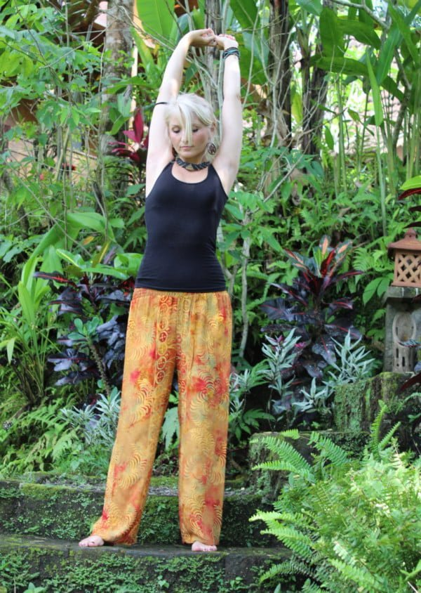 Aladinhose Yogahose Batik Orange