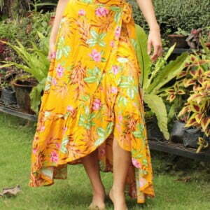 Gypsy Siter Wrap Skirt Flower Yellow