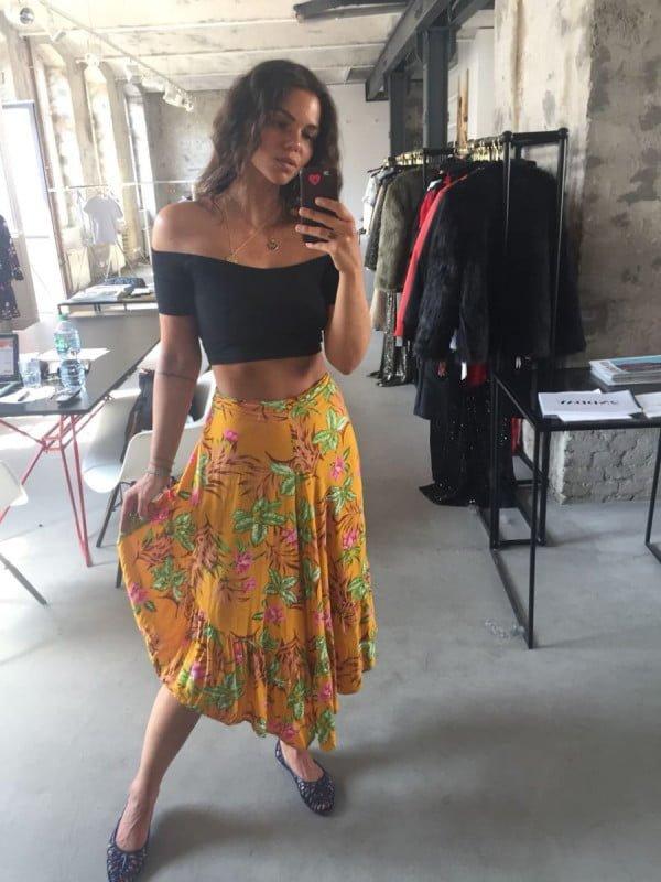 Gypsy Skirt Yellow Boho Berlin Weltentaenzer