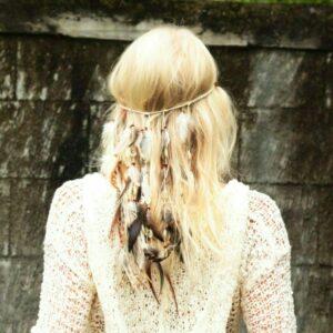 Hippie Kopfband Weiß