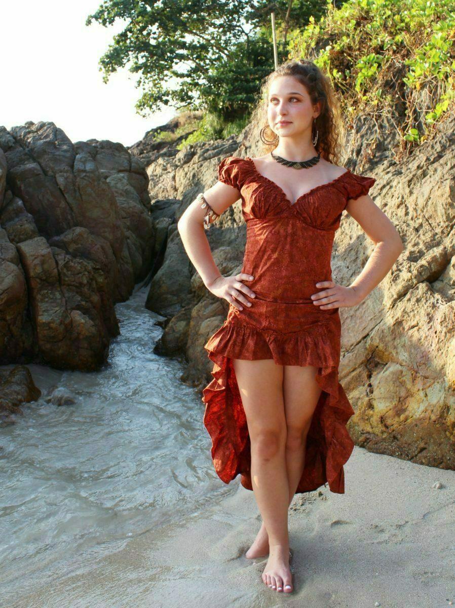 online retailer e999a d4755 Batik Hippie Baumwoll Kleid