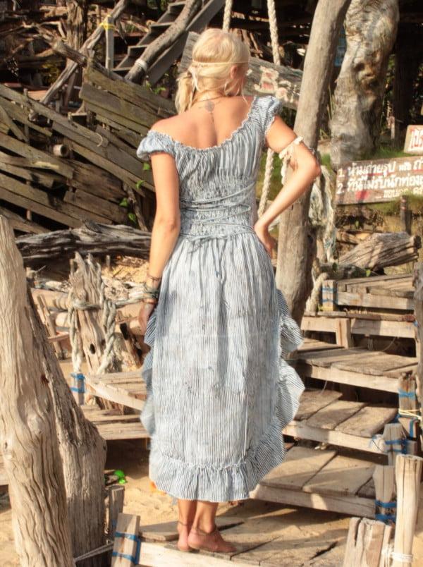 Saloon Kleid Hinten By the Sea
