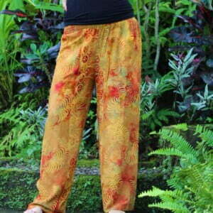 Summer Pants Long Beach Pants Sunrise Orange