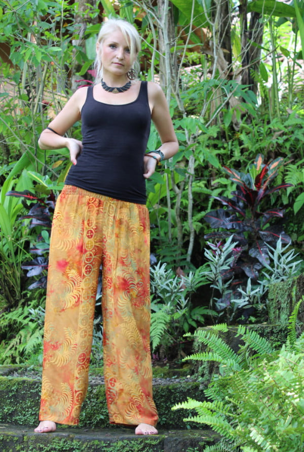 Yogahose Hippiehose Orange
