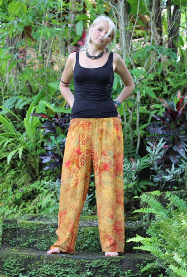 Yogahose Orange Hippiehose