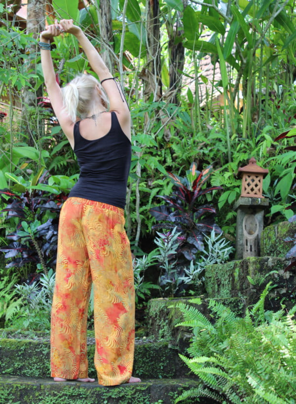 Yogoa Hose Hippie Orange Batik