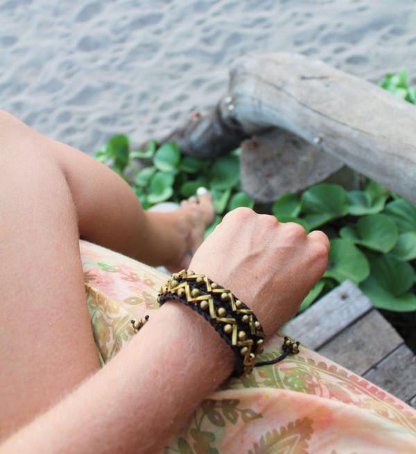 Armband hand geknüpft Baumwollgarn Gewachst