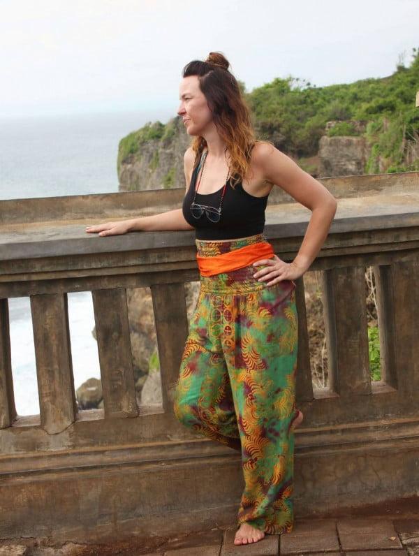 Gemütliche Hippiehose aus Stoff Festival Style Hippie Hose Weites Bein