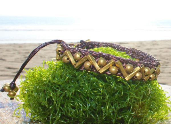 Gypsy Style Bracelet Woven Bracelet Brass
