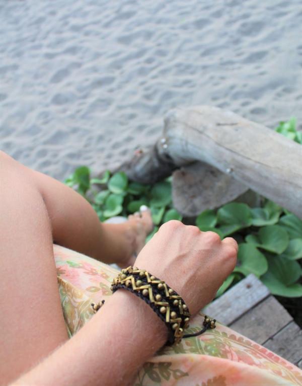 Hippie Armband Makramee Schmuck Freunschaftsarmband Talismann