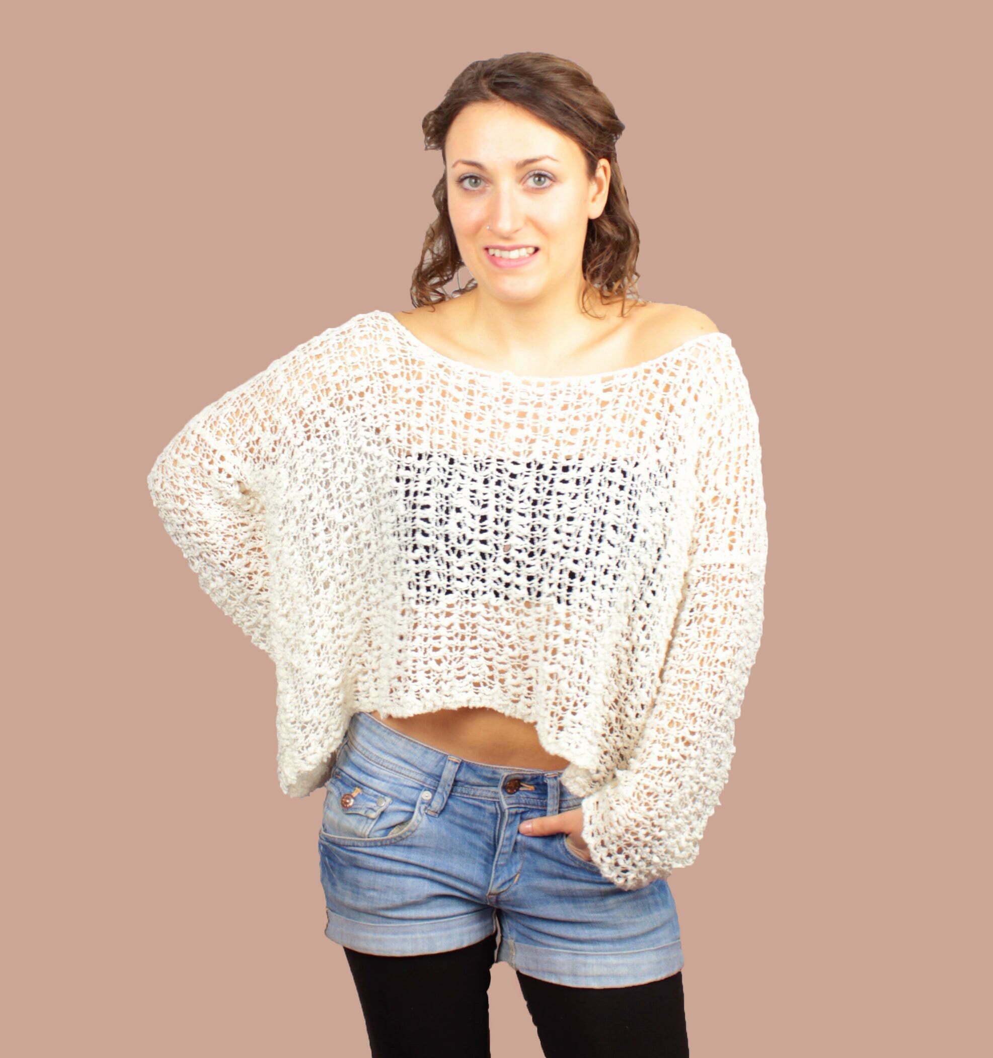 Off Shoulder Knit Summer Sweater