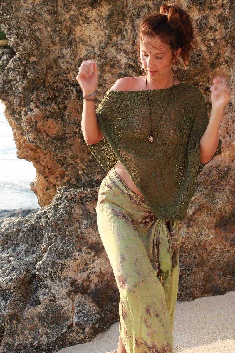 Hippie Beach Styles Sarong as Dress