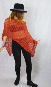 Damen Poncho - Vielseitig einsetzbar - Als leichter Überwurf