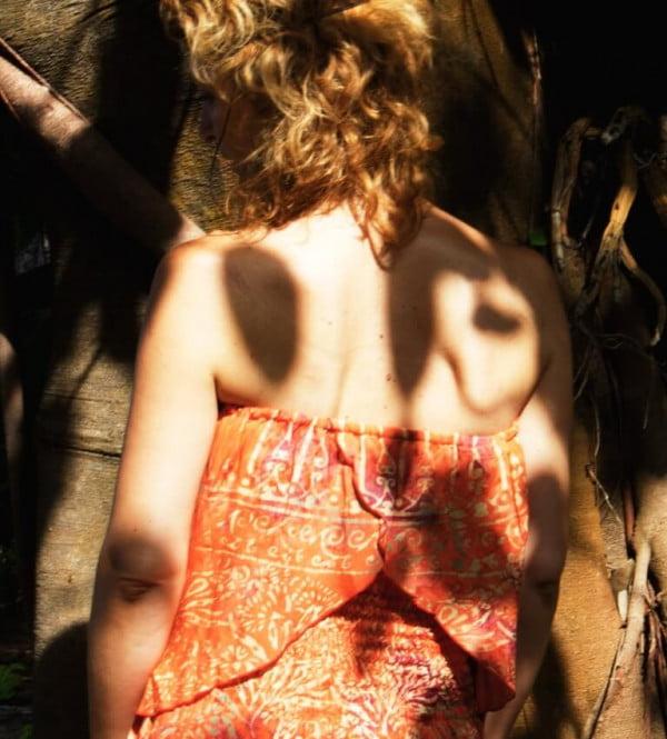 Sommer Batik Hippie Boho Top Schulterfrei