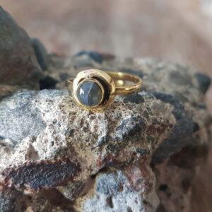 Boho Halbfingerring Gypsy Ring fein Labradorit