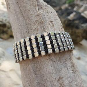 Boho Gliederarmband Silber Elegant