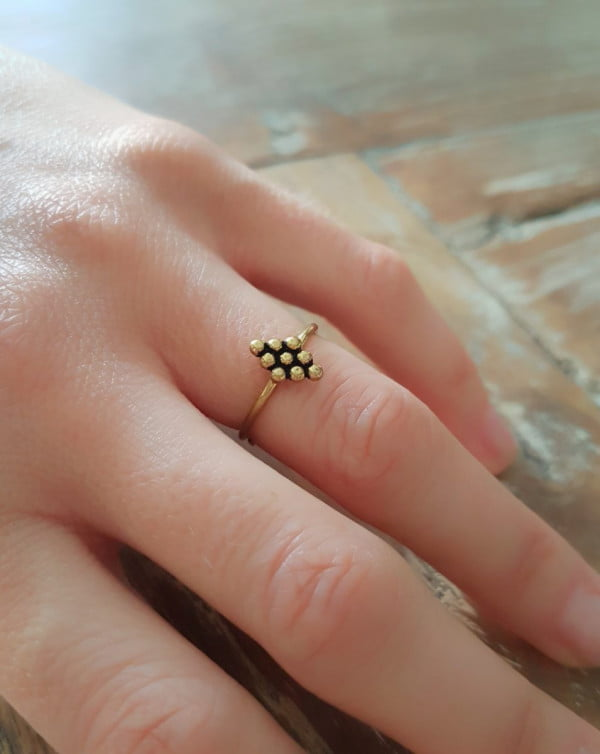 Boho Halbfingerring Gypsy Ring fein