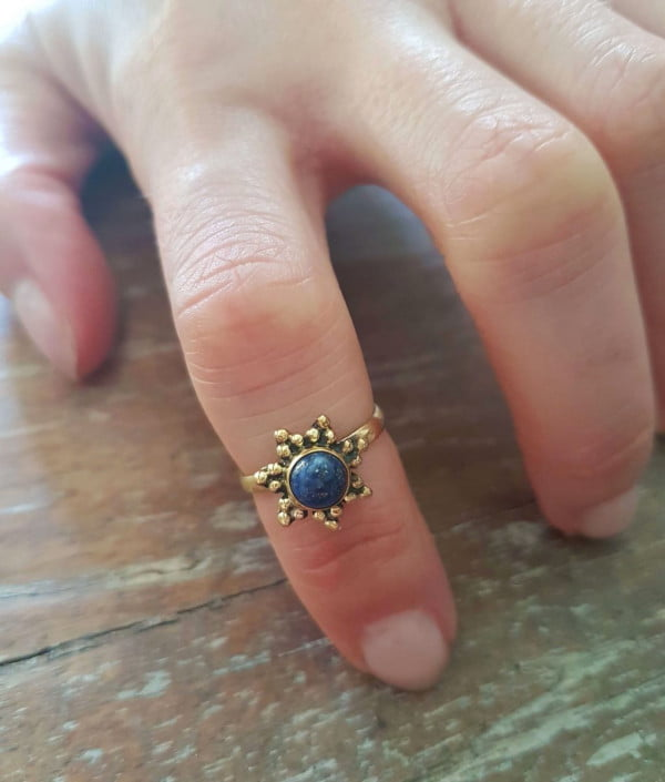 Boho Hippie Halbfinger Ring Brass