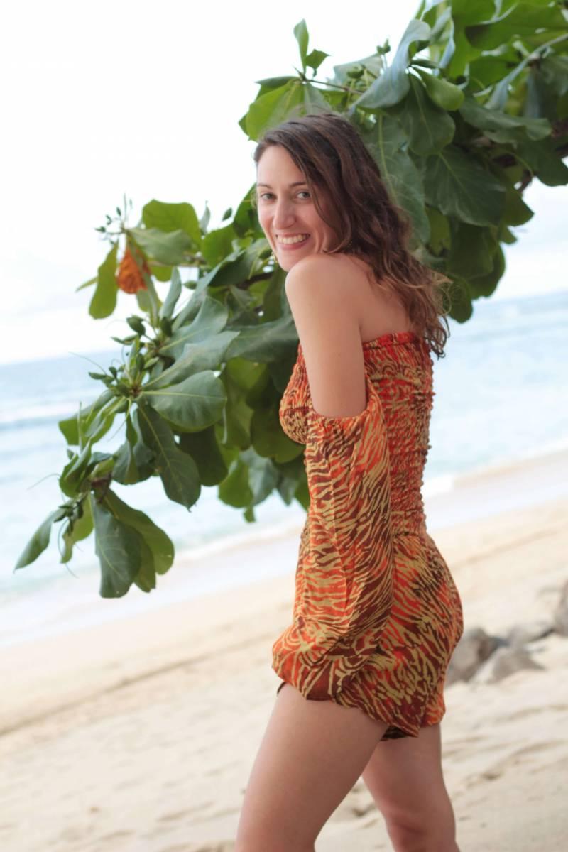 Boho Playsuit Damen Strand Outfit im Ibiza Style sexy