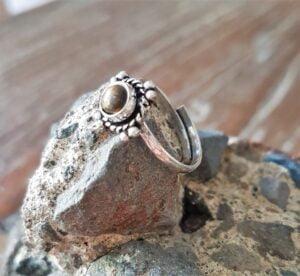 Boho Midi Knuckle Ring Tigerauge