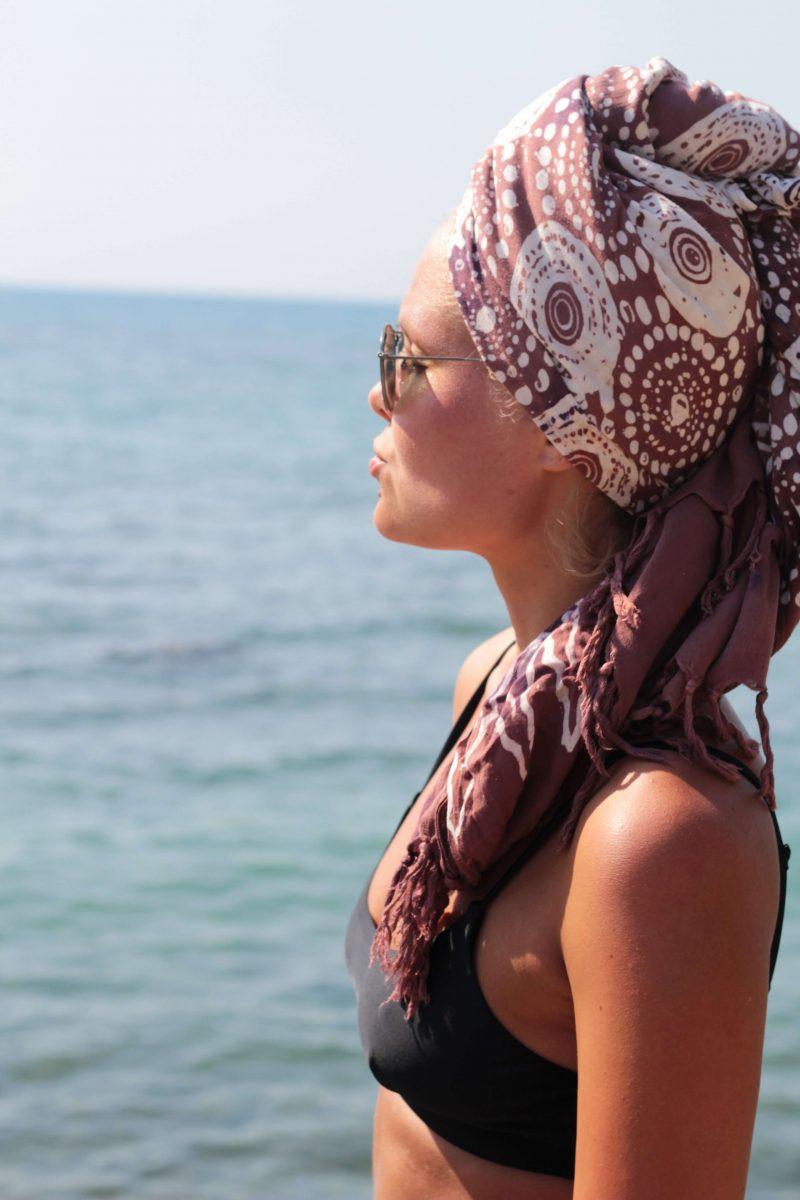 Boho Turban Hair towel headscarf