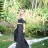 Boho Two piece polka dress black Boho Ibiza Style