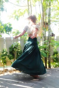 High Waist Maxi Bottle Gren Skirt Summer Ibiza Gypsy Style