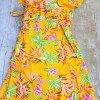 70er Jahre Vintage Style Boho Hippie Sommerkleid Wickelkleid Damen Kurzarm