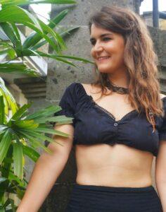 Off Shoulder Crop Top Boho Gypsy Festival Goa Style fashion