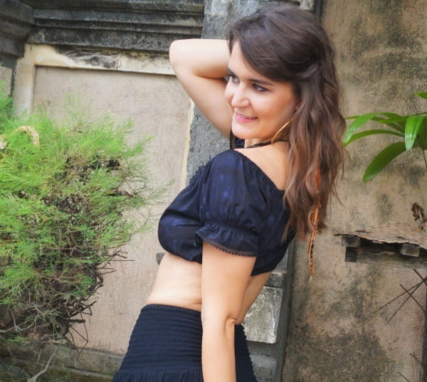Boho Gypsy Hippie Goa Style Top kurz schwarz Kleidung Sweetheart Top Bauchfrei