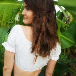 Hippie Feder Haarschmuck mit Klip Hippie Haare