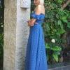 2 Piece Polka Dot Dress with Flounce Ruffles Summer Maxi Dress Long Dots