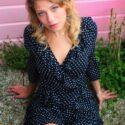 Polka Dot Minikleid Rüschen Kleid Gepunktet Kurz