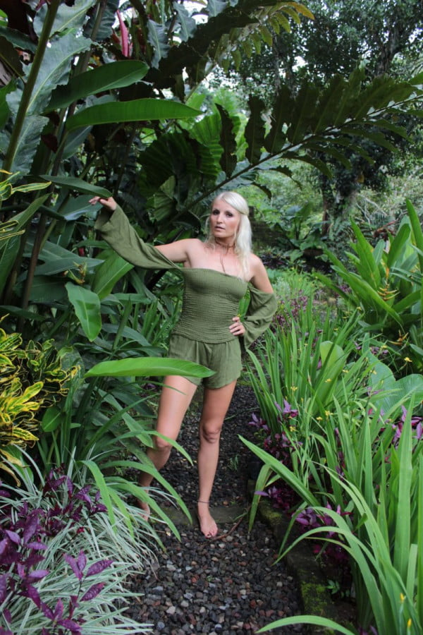 Beach Jumpsuit Olive Green