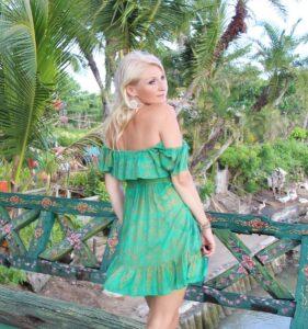 Off Shoulder Kleid grün Goa Indie Ethno Hippie Kleid Grün Weltentänzer Berlin