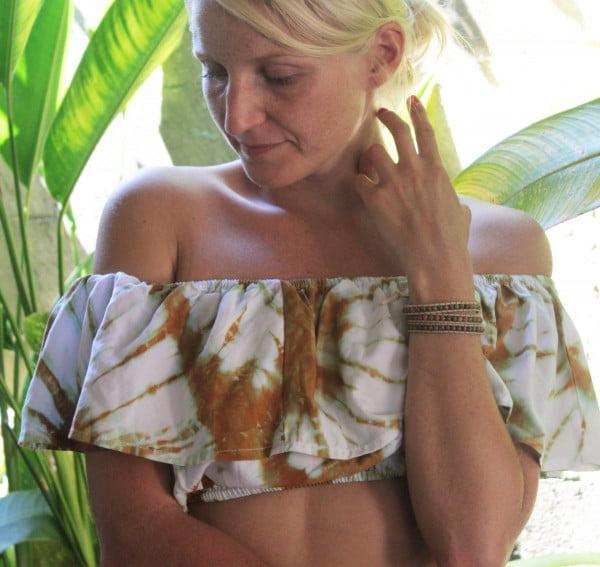 Sommer Batik Top Weiß