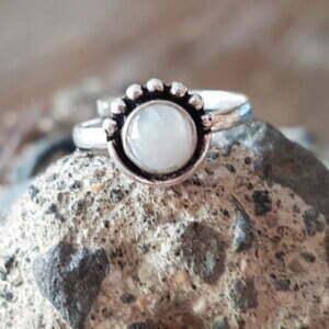 Midi Ring Knuckle Ring Fingerspitzenring Modstein