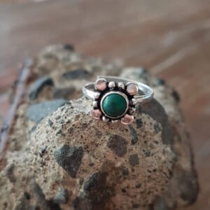 Fingerspitzenring Knuckle Ring Malachit