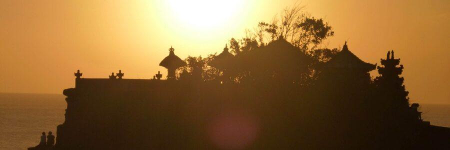 Tanah Lot in Bali Sunset